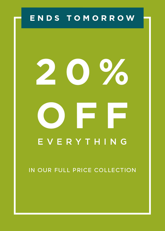 20% Off Full Price