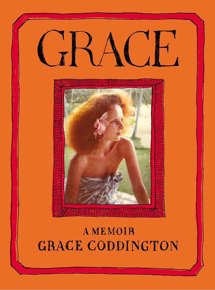 The striking orange front cover of Former Vogue Creative Director, Grace Coddington's Memoir