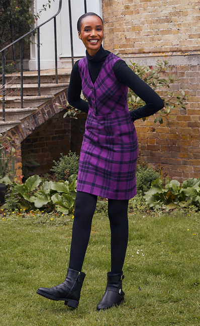 Purple Wool Winter Dress Abraham Moons Collection
