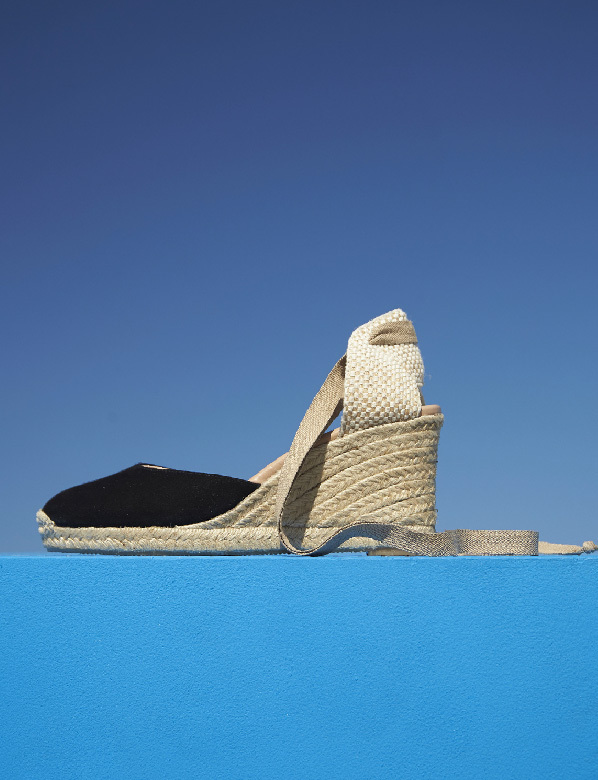 Black Wedge Espadrille