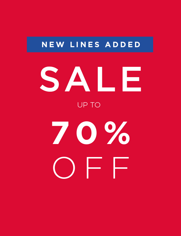 Sale Up To 70% Off. New Lines Added.