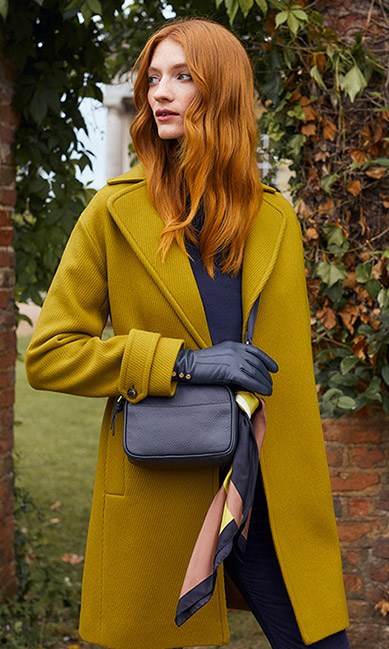 Yellow Wool Coat Outfit