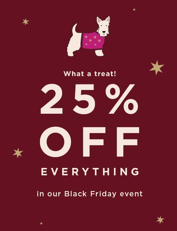 Black Friday Offer 25 Percent Off Everything