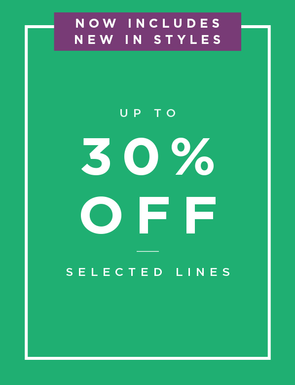 Up to 30% Off Selected Lines Promotion