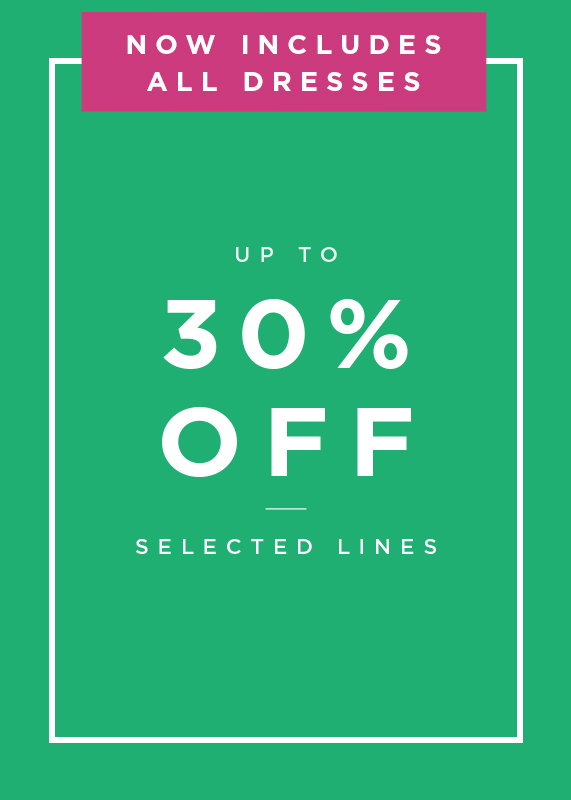 Up to 30 Percent off selected lines