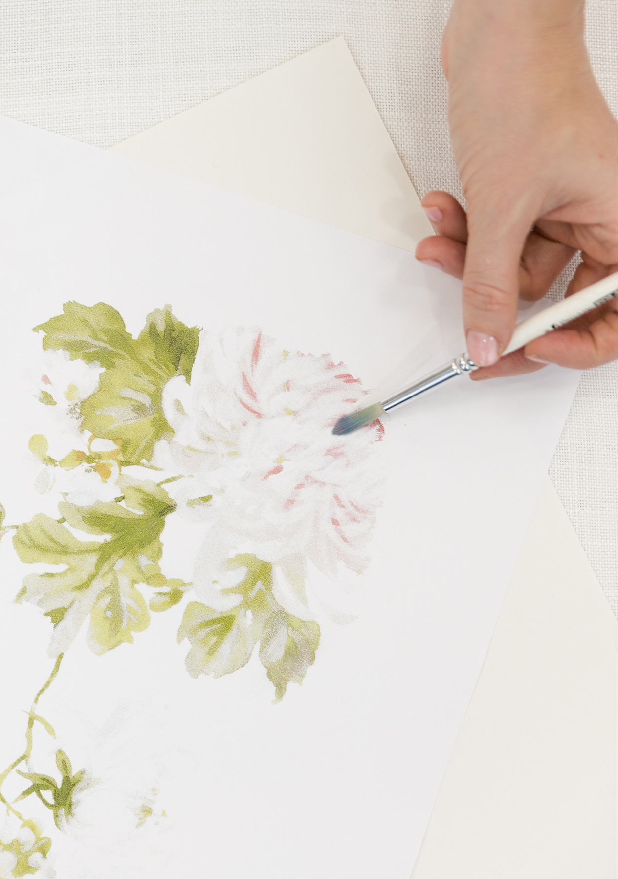 Stay creative during lockdown, an image of a watercolour floral