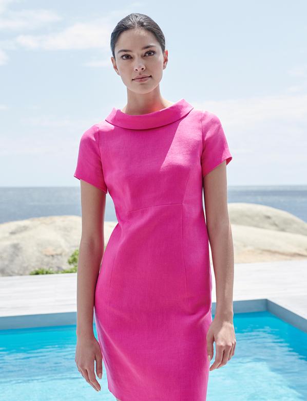 Linen Pink Summer Dress