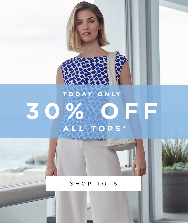 Blue Summer Geometric Top
