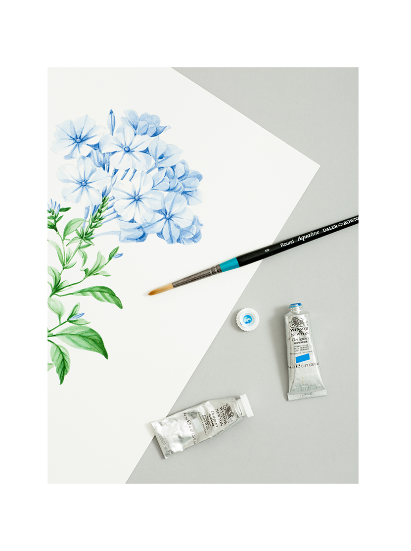 A still life painting of flowers.