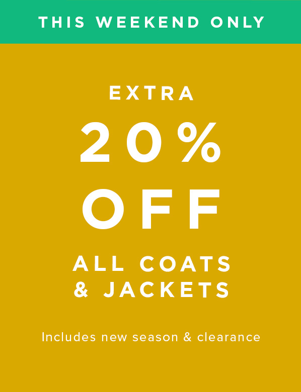 This Weekend Only: Hobbs Extra 20% Off All Coats & Jackets