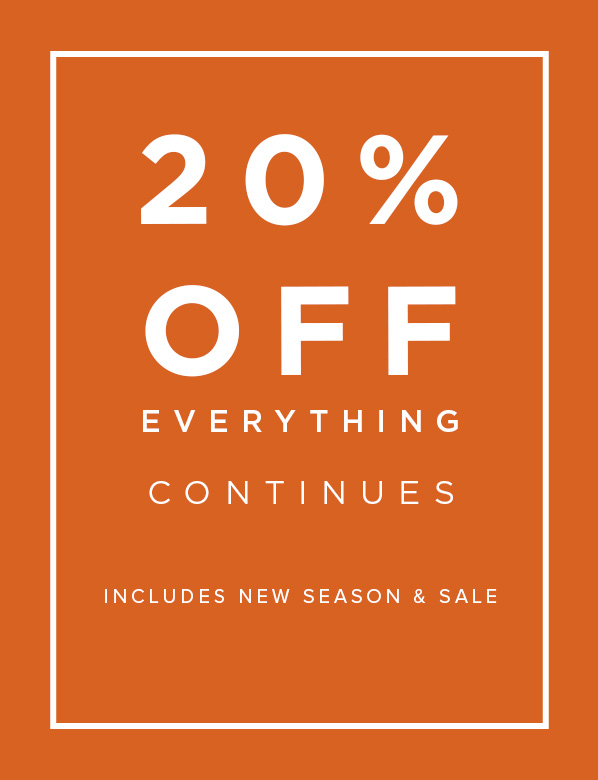 20% Off Everyhting
