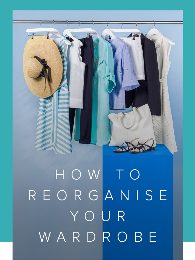 How to reorganised your wardrobe featuring a rail of summer appropriate pieces for stylingg.