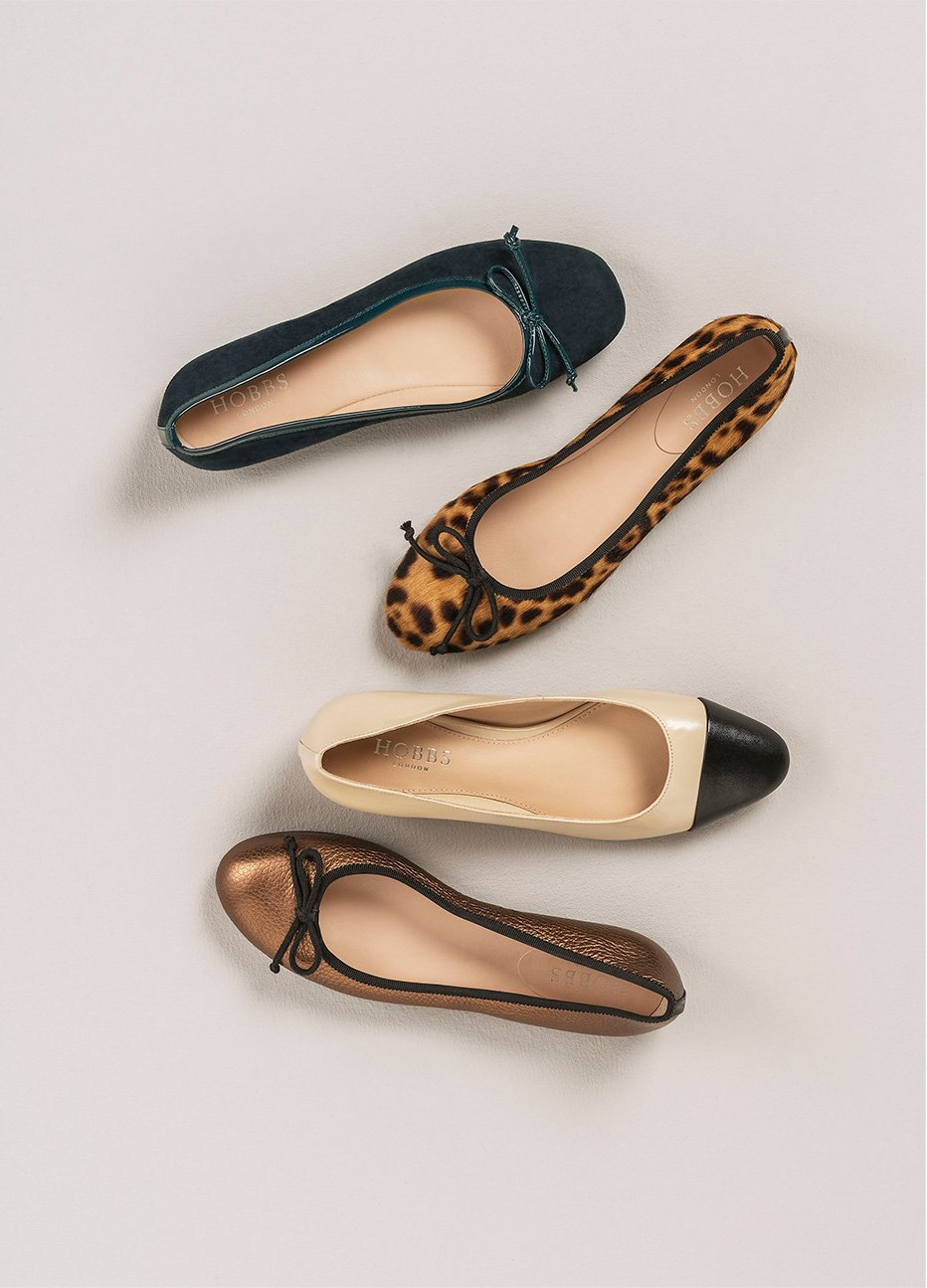 Selection of new autumn winter Hobbs premium leather ballet flats