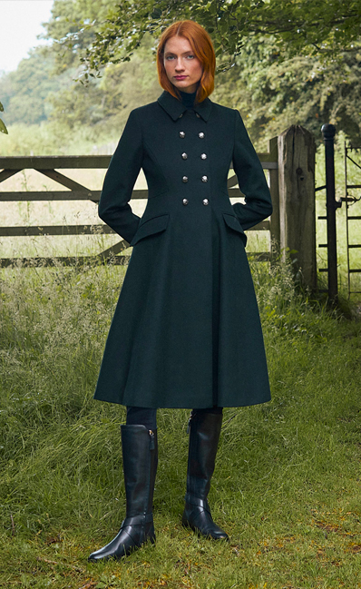 Green Winter Wool Coats Outfit
