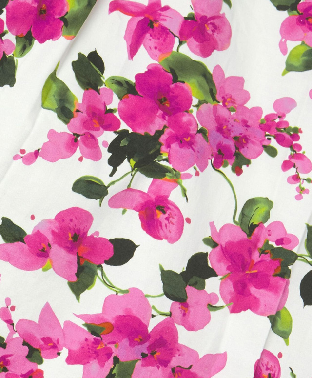 Close-up of pink paper bougainvillea flowers, handmade by Emmeli Kimhi.