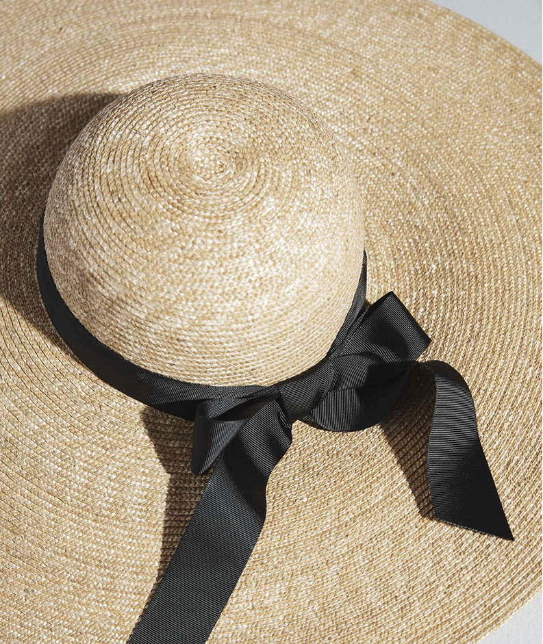 Swap your accessories,a woven sun hat will be useful in the summer months.