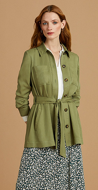 Green Shirt Jacket outfit