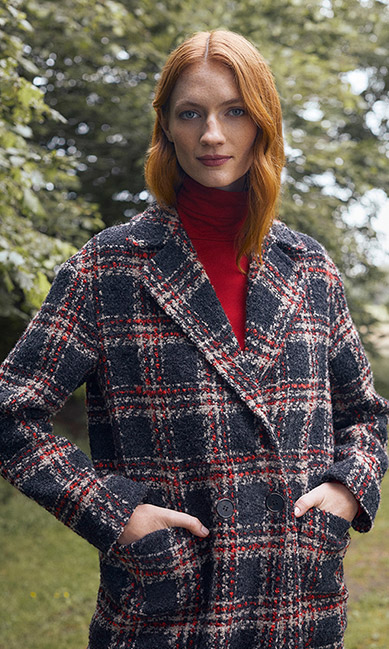 Check Wool Coat Outfit