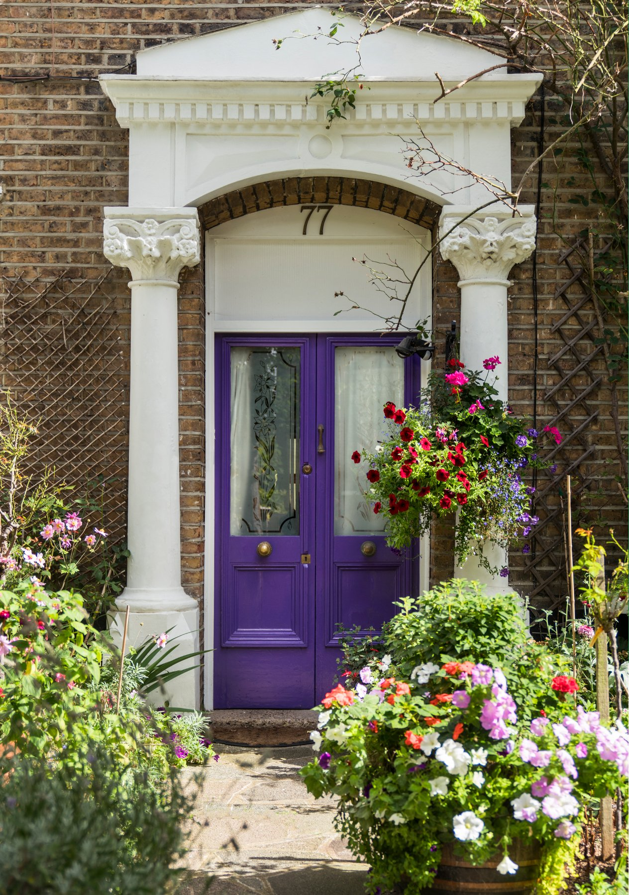 A purple double front door for Hobbs at Home with Hobbs junior womenswear buyer.