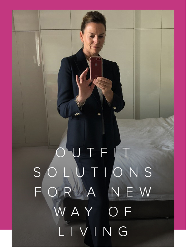 Hobbs Product Director, shows us how to make the most of your wardrobe using versatile staples from your workwear wardrobe. Here, in a classic navy blue Hobbs trouser suit.