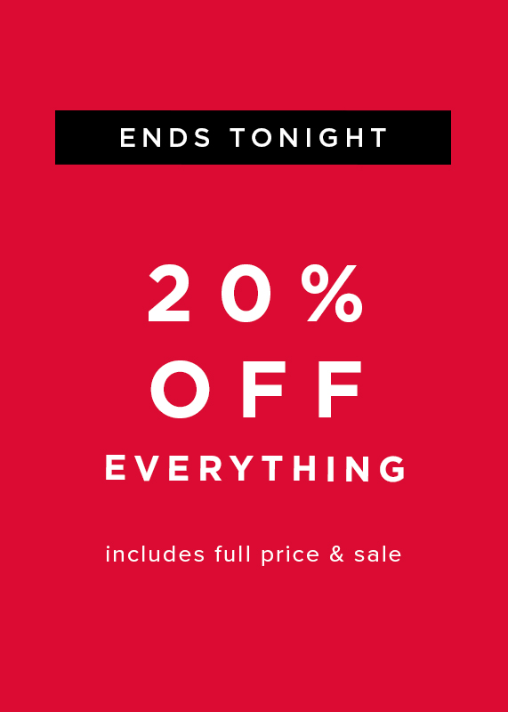 Hobbs Extra 20% Off Everything ends tonight