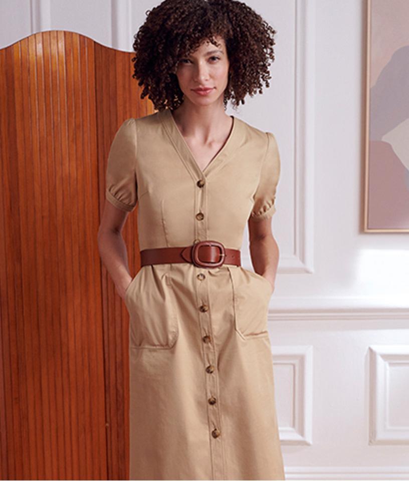 Beige Summer Dress Outfit