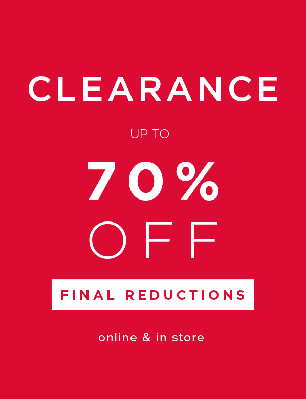 Clearance Final Reductions.