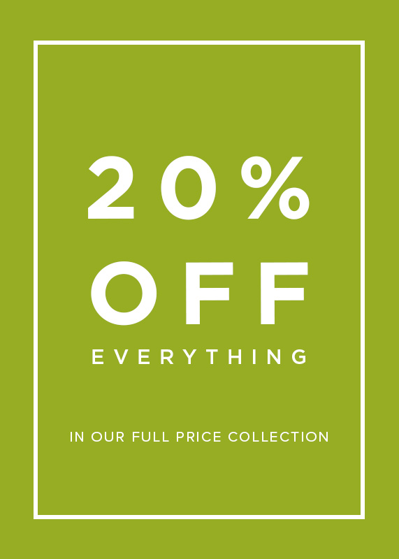 20% Off Full Price