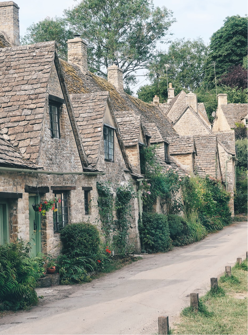 The quaint cottages of a cotswold village