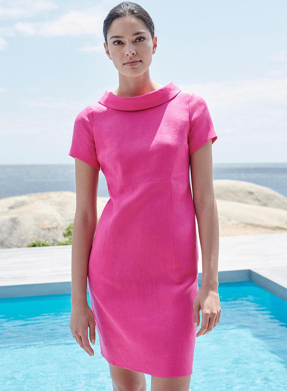 Pink Shift Summer Dress