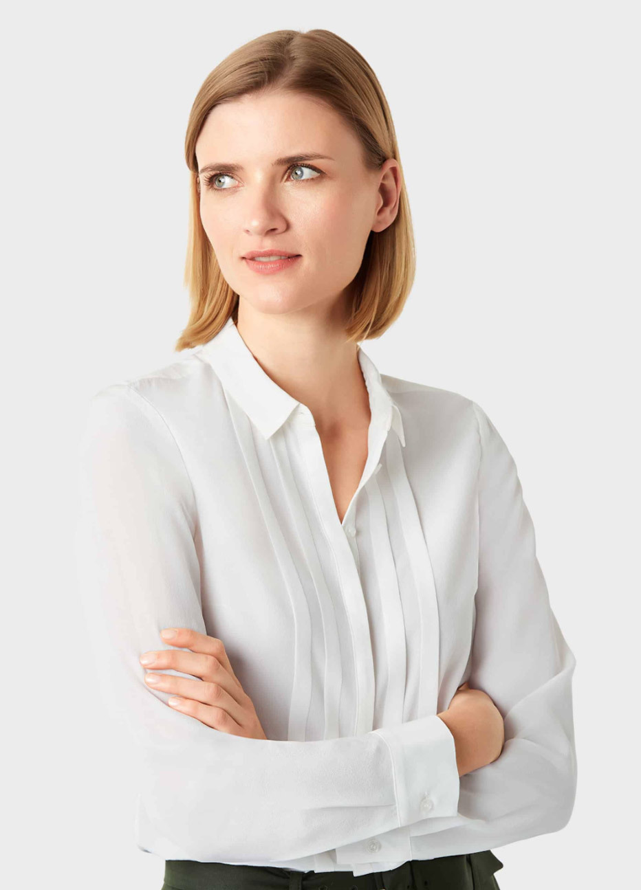 White work shirt for women by Hobbs.