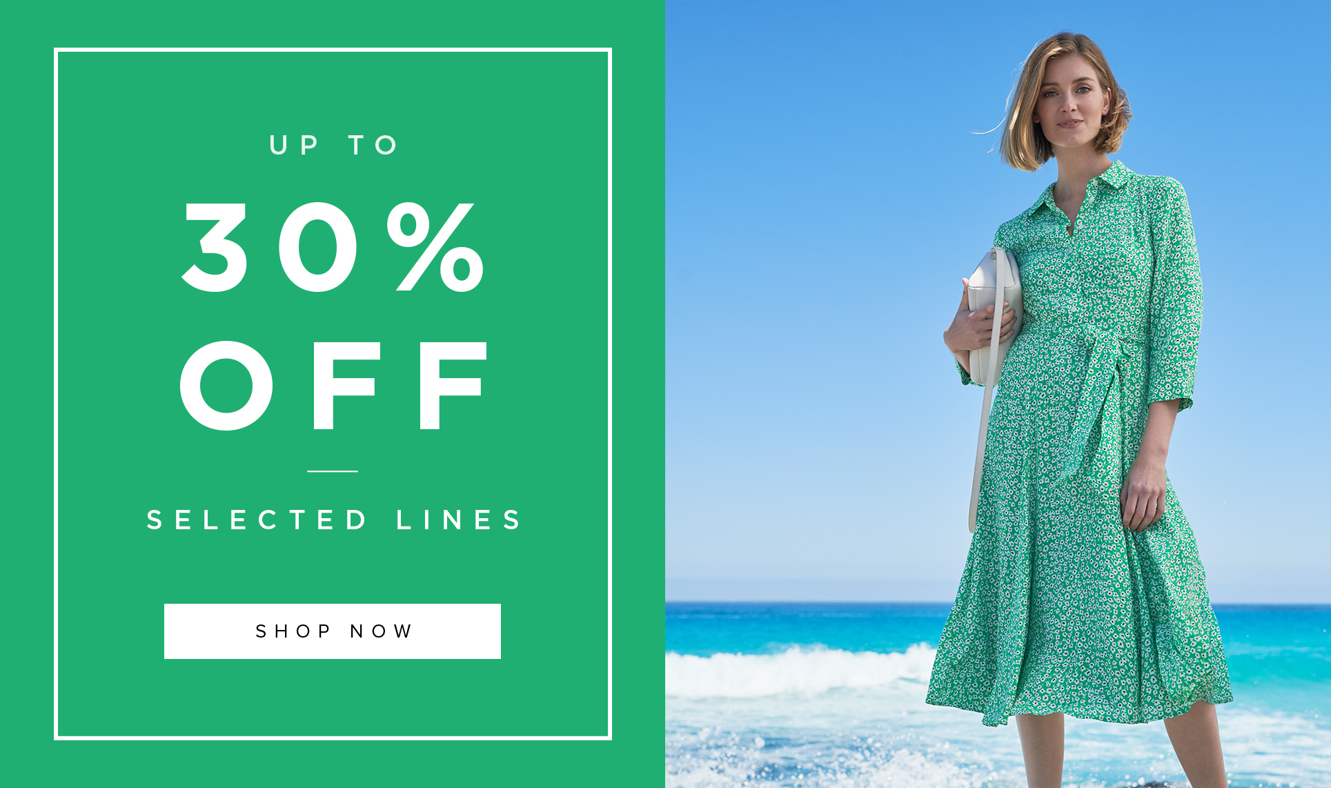 Green Work Dress and Navy and Pink Suit Up to 30% Off Promotion