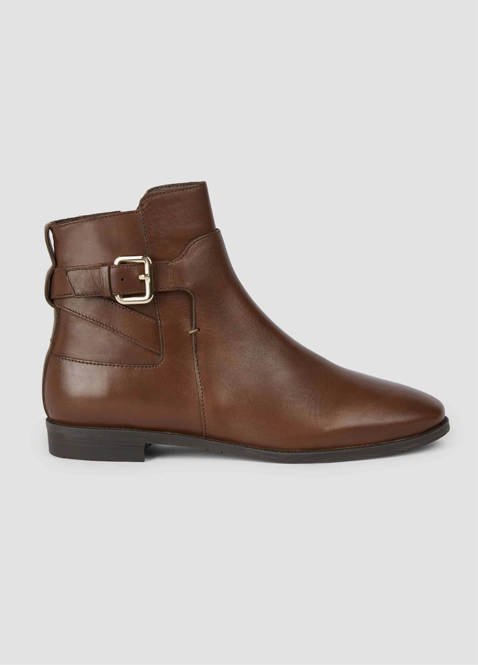Hobbs women's brown leather boots.
