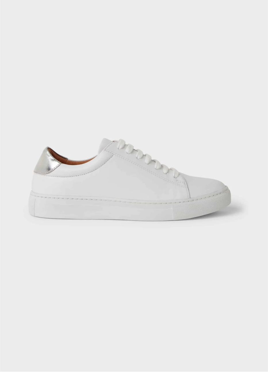 White leather trainer from Hobbs.