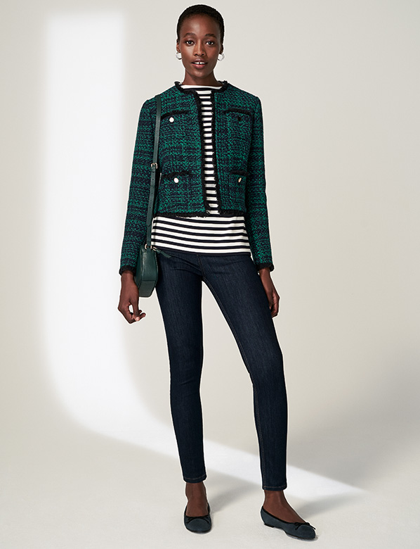 Petite Green Tweed Jacket