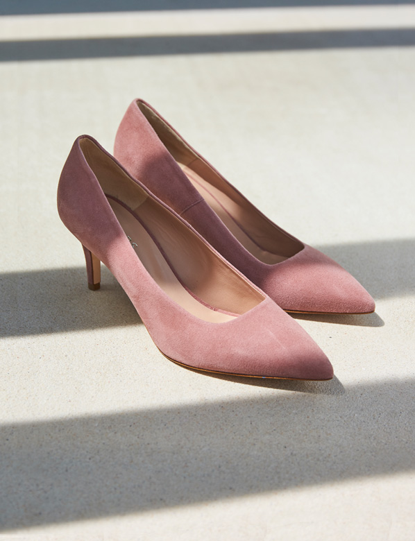Dusky Pink Court Shoes