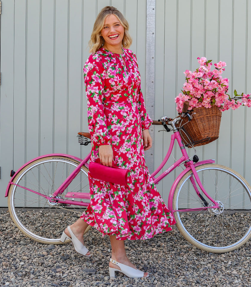 Season Of The Dress Editorial Pink Occasion Dress Outfit