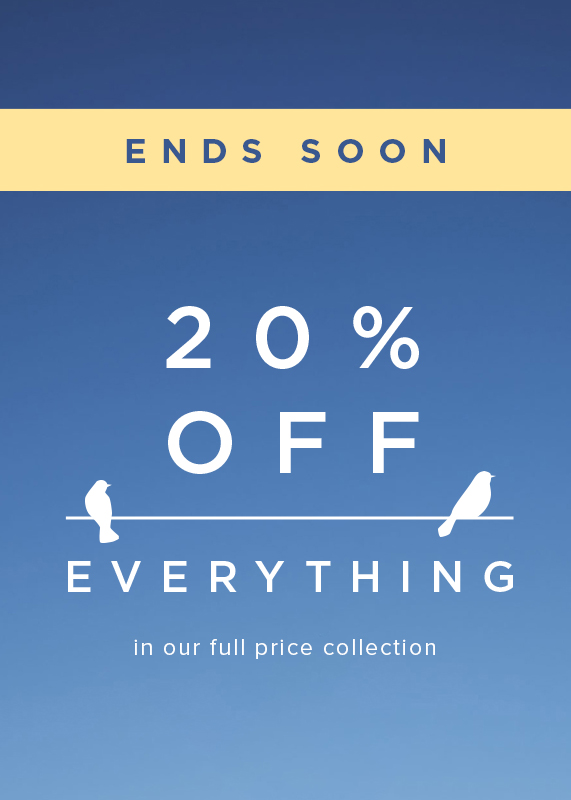 Ends Soon 20 percent off evrything offer