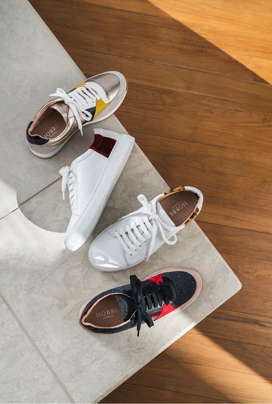 Hobbs comfortable leather trainer collection