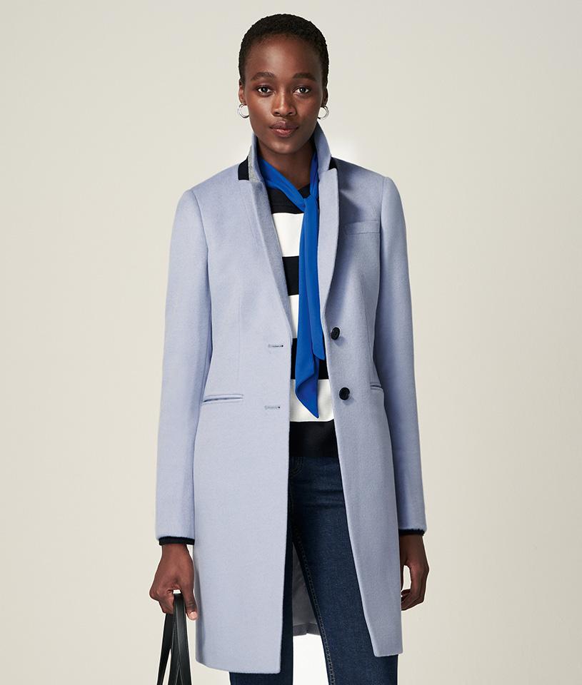 Pale Blue Tilda Wool Coat