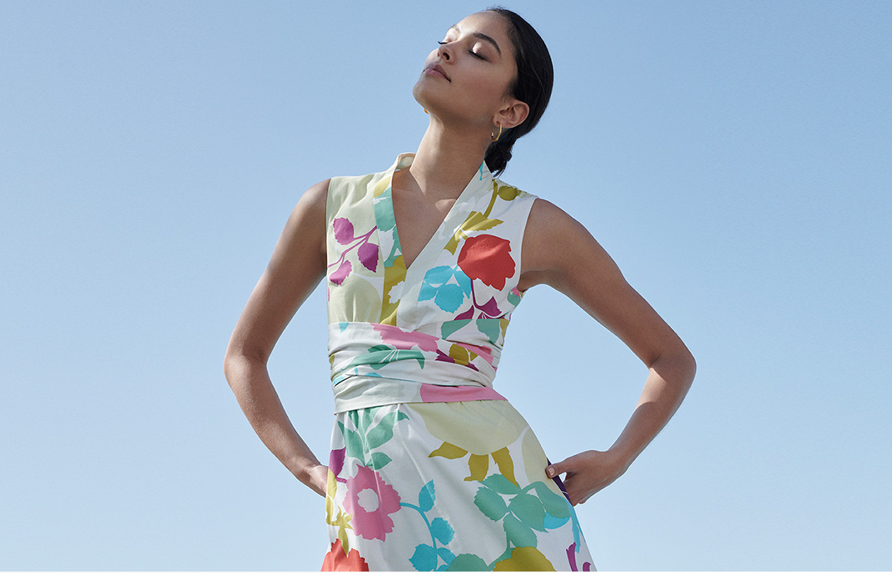 Key pieces needed for summer, include a floral sundress