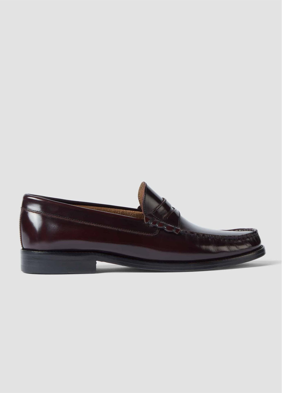 Hobbs women's leather loafers in black.