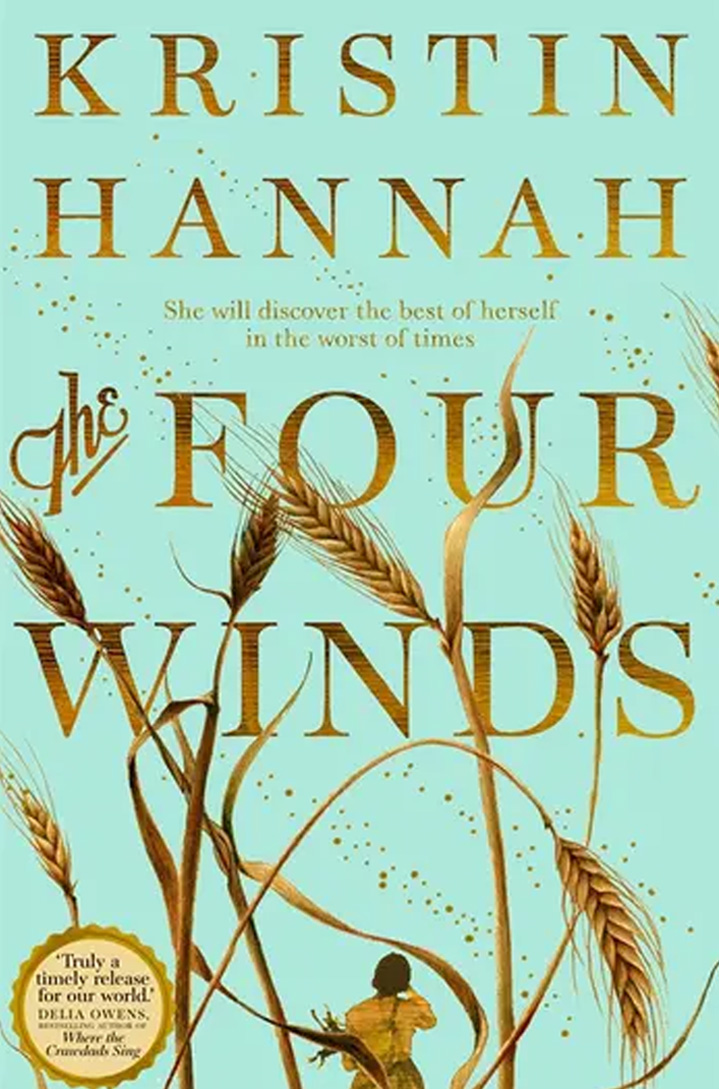 The cover of The Four Winds by Kristin Hannah.