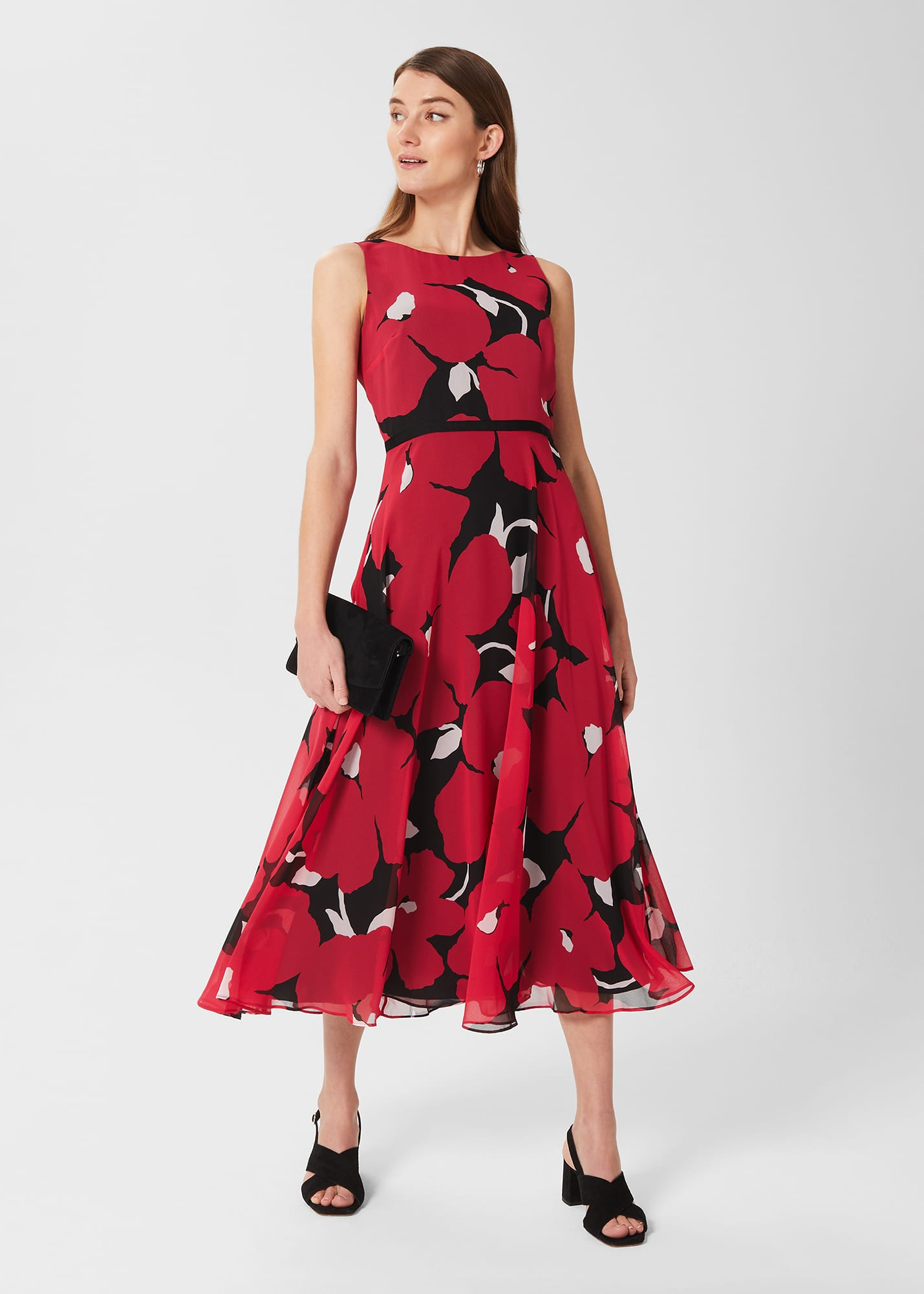 Hobbs Women Carly Floral Midi Dress