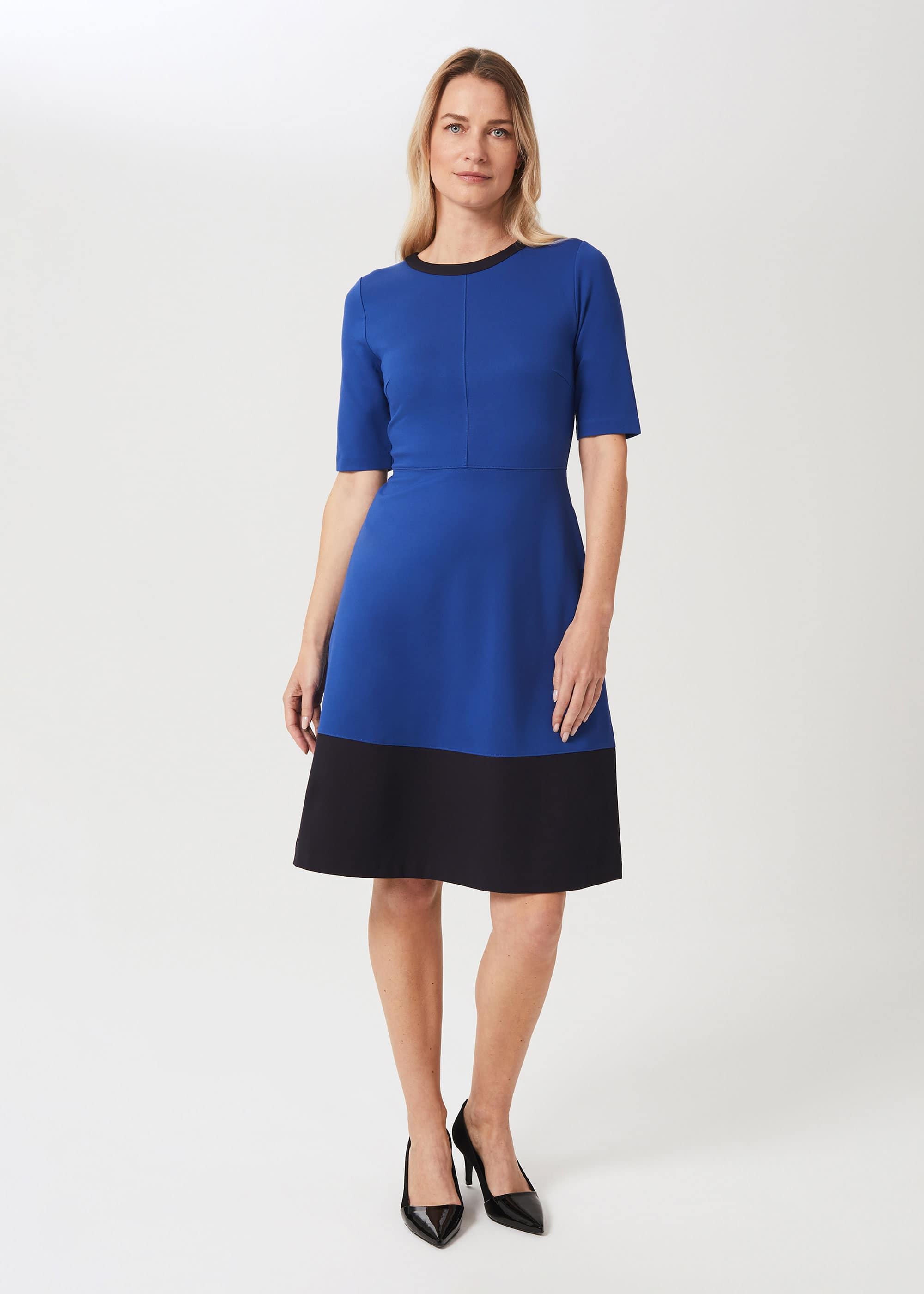 Hobbs Women Petite Simona Ponte Jersey Dress