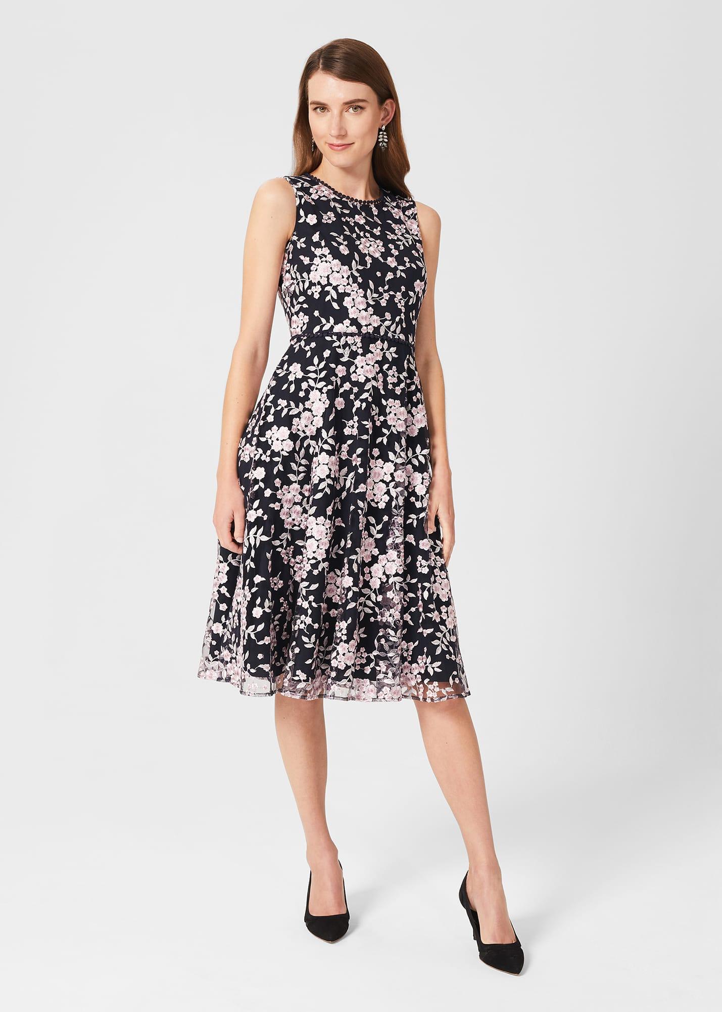Hobbs Women Scarlett Embroidered Dress