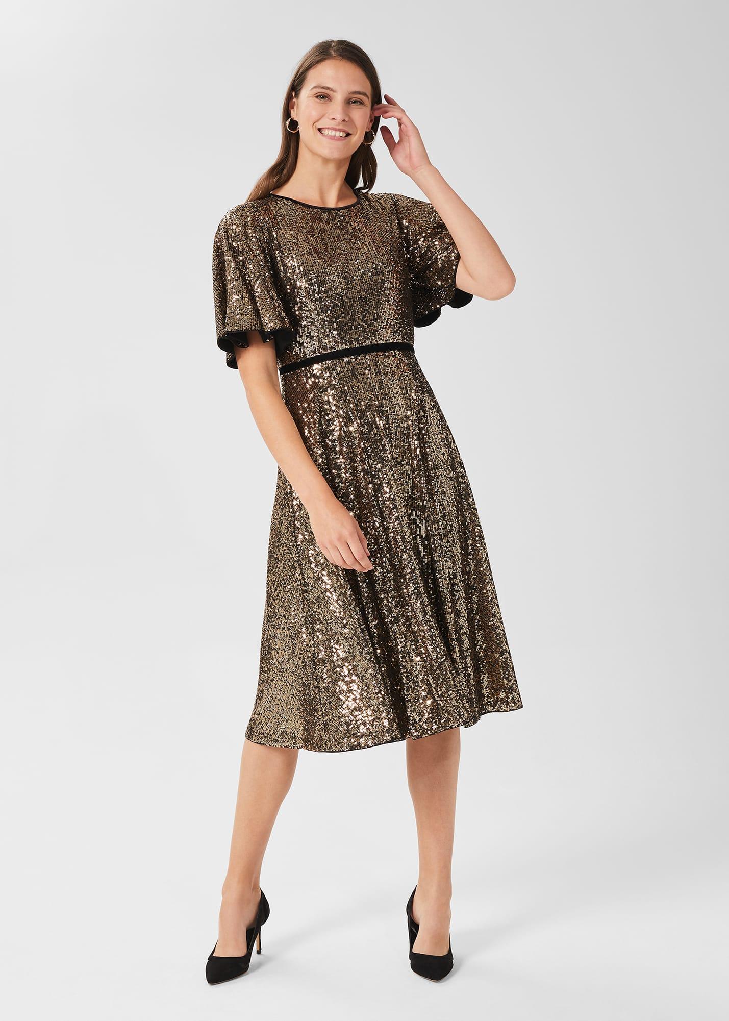Hobbs Women Betsey Sequin Dress