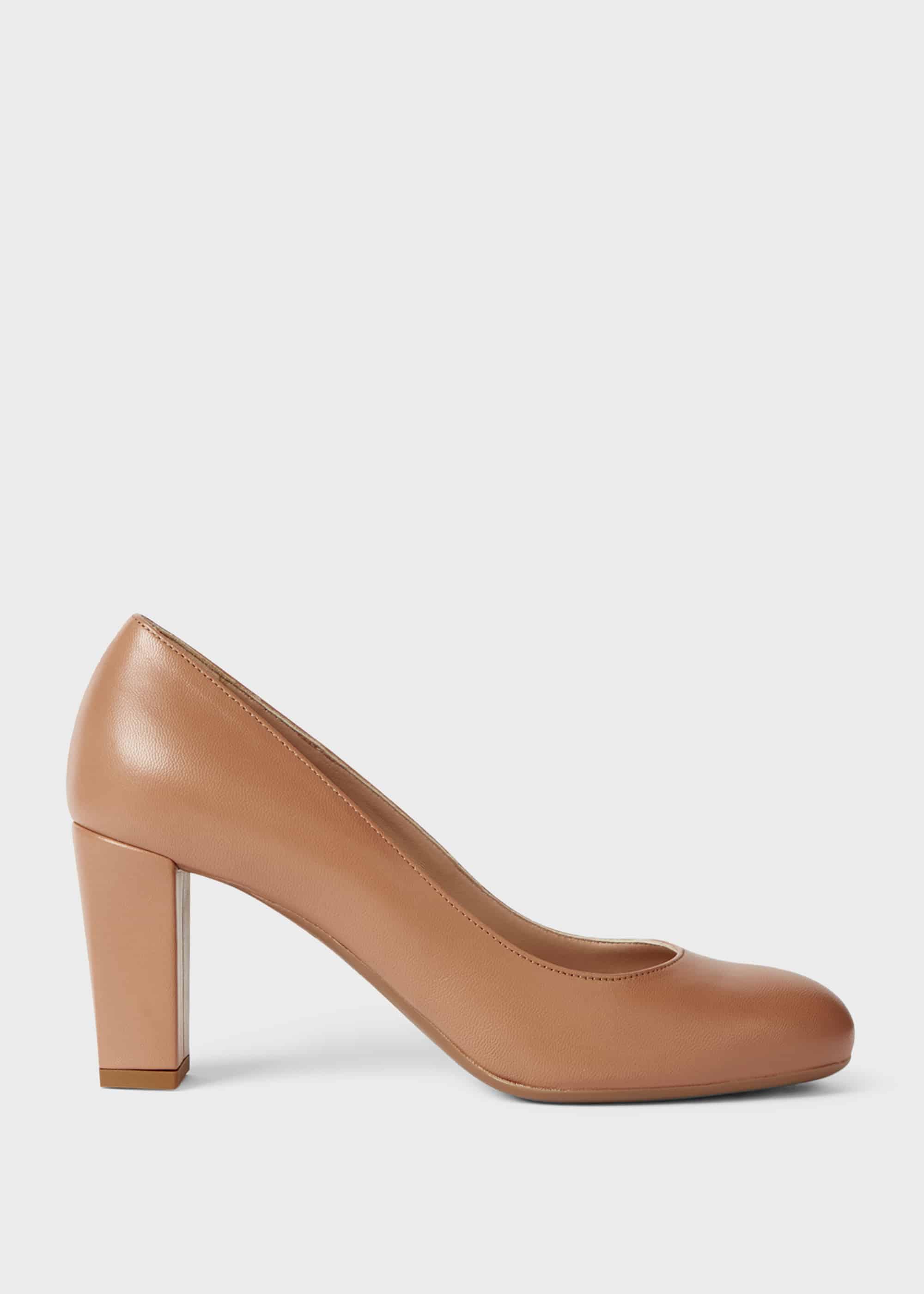 Hobbs Women Sonia Leather Block Heel Court Shoes