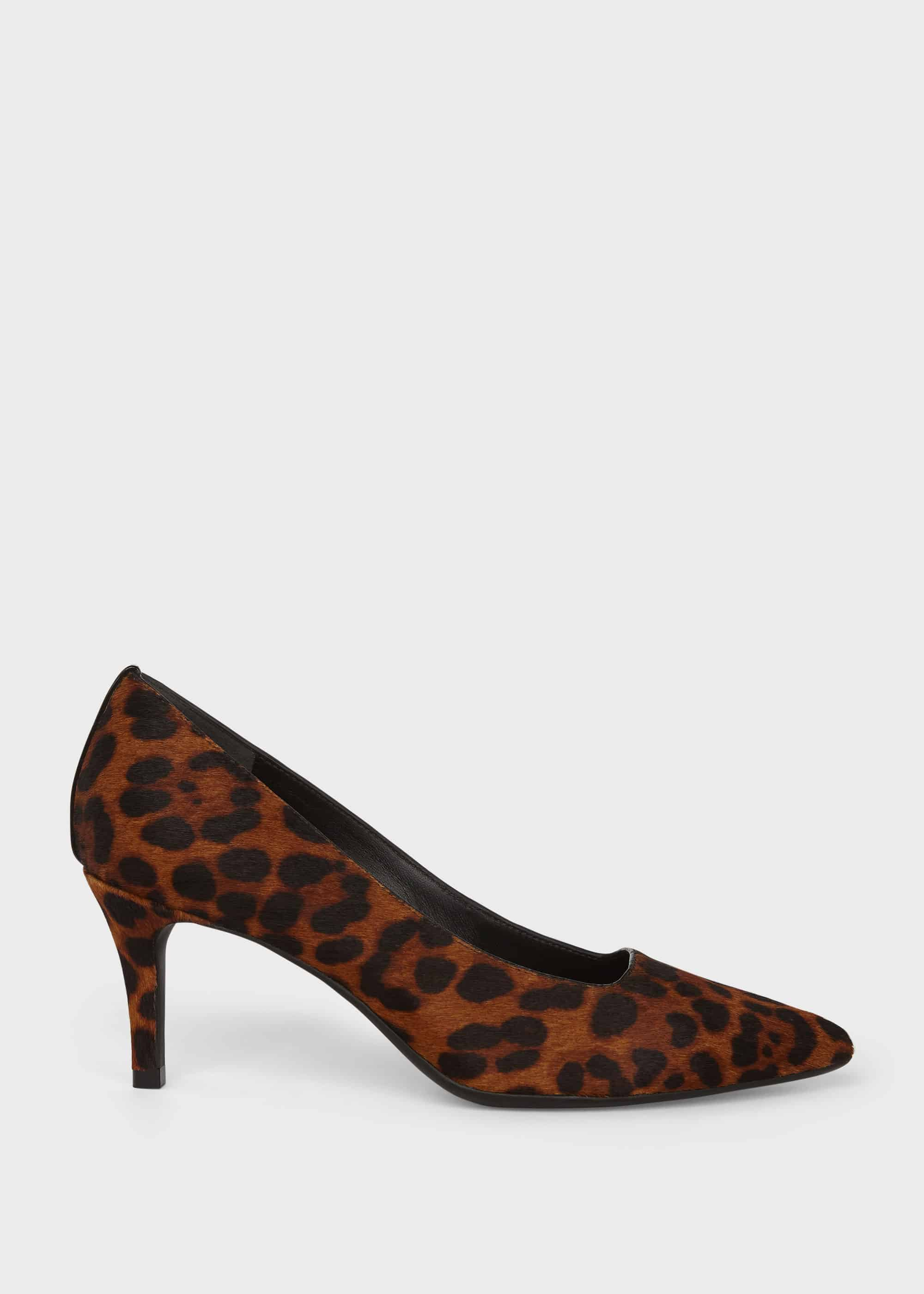 Hobbs Women Amy Animal Print Leather Court Shoes