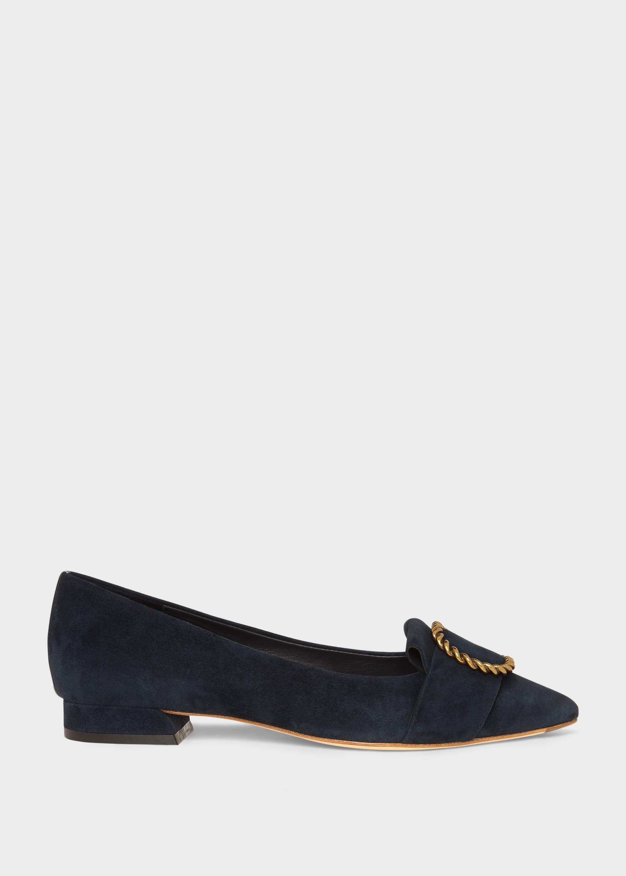 Hobbs Women Eliza Suede Flat Shoes